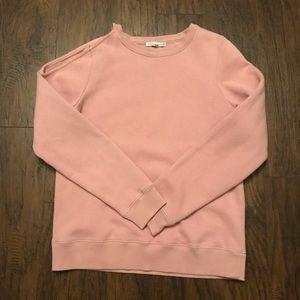 Rebecca Minkoff Pink Cold Shoulder Sweatshirt S
